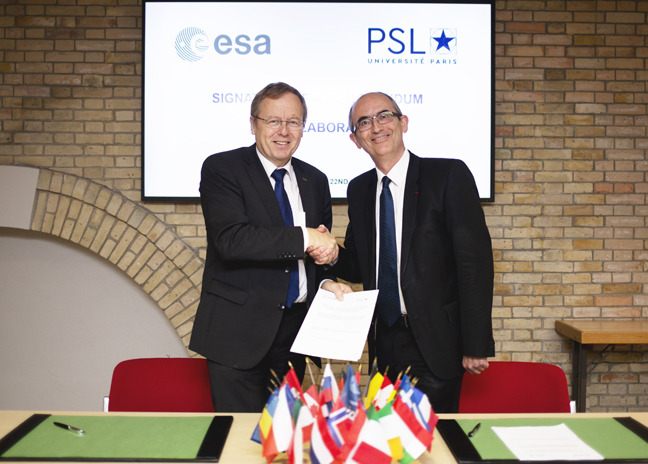Signature of a Memorandum of Collaboration between ESA and PSL © Daniel Nicolaevsky