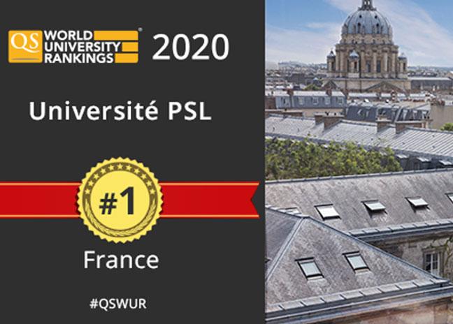 International university rankings: PSL first   PSL