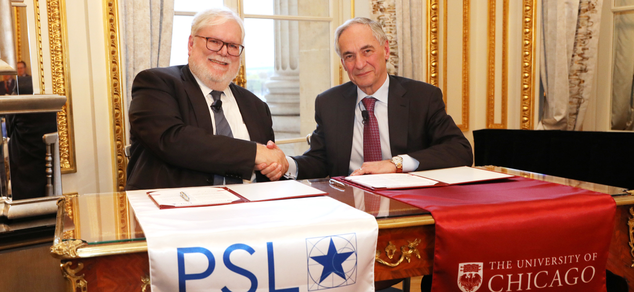 MOU entre l'Université PSL et l'University of Chicago