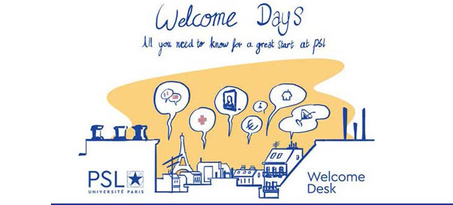 Programme des Welcome Days de l'Université PSL