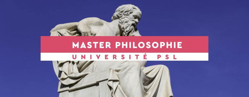 Master Philosophie Psl