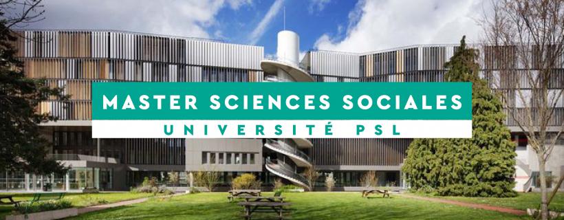 Master Sciences Sociales Psl