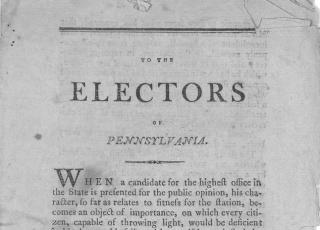 To the electors of Pennsylvania. [Philadelphia. 1799]. Source Library of Congress